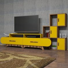 Good design is obvious; great design is transparent. Complete your living room with our Flora S Walnut and Yellow TV Unit for only $600.21! Link in bio!  Tags: #doseofmodern #modern #furnituredesign #woodworking #sofa #wood #furniture #modern #decor #interior #decoration #homedecor #interiors #homedesign #bedroom #contemporary #architect #house #modernart #mansion #realestate #tvshow #series #radio #tv #television #netflix #media #entertainment #trivia Tv Unit Furniture, Modern Furniture, Furniture Design, Wood Furniture, Modern Decor, Home Room Design, House Design, House Rooms, Cool Designs
