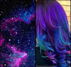 oil slick hair color how to - Google Search