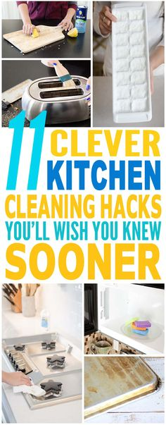 These kitchen cleaning hacks are just the BEST!! Tried a few of these kitchen cleaning tips and they've helped me a lot already. Pinning for sure.