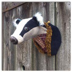Badger Head by Carola van Dyke