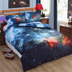 3d Mysterious Boundless Galaxy Colorful Outer Space KissLife Bedding... ($36) ❤ liked on Polyvore featuring home, bed & bath, bedding, queen bedding ensembles, colorful duvet, outer space bedding, queen bedding and colorful queen bedding
