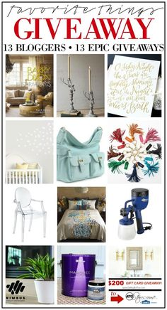You won't want to miss this! MY FAVORITE THINGS GIFT GUIDES AND GIVEAWAYS! Check off your gift list with 13 creative bloggers EPIC gift guides and giveaways to enter to win lots of amazing things for you and your home! www.settingforfour.com