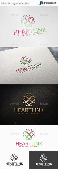 File Description Name: Heart Link Features: PNG, AI and EPS (Illustrator 10 EPS ) 300PPI CMYK 100 Scalable Vector Files Easy to edit color / text Ready to print Fonts: Exo 2.0 Download links : http://www.fontsquirrel.com/fonts/exo-2