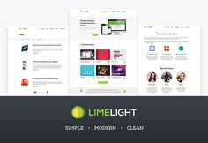 Limelight is a free PSD web template including 6 pages. This multipurpose template covers many possibilities, from blogging to showcasing po...