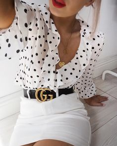 Zo kun je een gucci riem op een zomerse manier combineren/ gucci belt/ how to wear the gucci belt