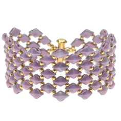 DiamonDuo Fish Scales Bracelet in Purple - Beading Projects & Tutorials - Beading Resources | Beadaholique