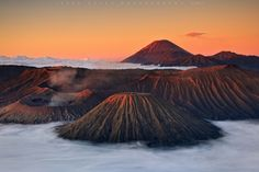 Sunrise at Mount Bromo, an active volcano in East Java, Indonesia.  #Bromo #Indonesia #volcano