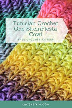 Crochet Cowl Free Pattern, Tunisian Crochet Patterns, Crochet Patterns For Beginners, Free Crochet, Knitting Tutorials, Crochet Motif, Free Knitting, Knitting Patterns, Crochet Scarves