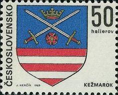 Bélyeg: Kežmarok (Csehszlovákia) (Csehszlovák városok címerei) Mi:CS 1906,Sn:CS 1654,Yt:CS 1753,AFA:CS 1753,POF:CS 1794
