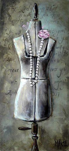House Of Maria por Maria Magdalena Oosthuizen ✿⊱╮ por VoyageVisuelle Fashion Painting, Fashion Art, Stella Art, South African Artists, Love Art, Painting Inspiration, Female Art, New Art, Art Nouveau