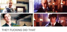 "The Flash and Harry Potter parallels! ""Scared (...)?"" ""You wish!"""