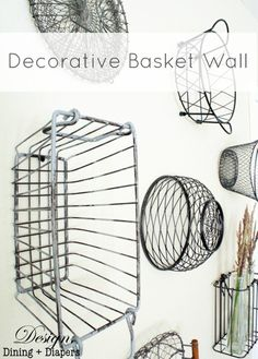 Decorative Basket Wa