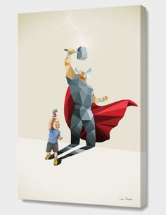 """""""The Power of the Hammer"""", Exclusive Edition Canvas Print by Jason Ratliff - From $69.00 - Curioos"""