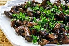 Balsamic Roasted Mushrooms with Garlic & Thyme