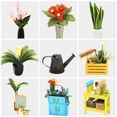 Dollhouse Kits, Wooden Dollhouse, Dollhouse Miniatures, Wooden Dolls, Tiny House Kits, Tiny Houses, Miniature Greenhouse, Mini Greenhouse, Diy 3d