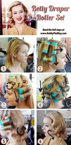 Vintage Hairstyles Retro Betty Draper Vintage Hairstyle Directions - Bring out your inner-Betty with these retro hairstyles. Betty Draper, Hair And Makeup Tips, Hair Makeup, Makeup Hairstyle, Pin Up Makeup, Crazy Makeup, Makeup Art, 1950s Hair And Makeup, Cabelo Pin Up