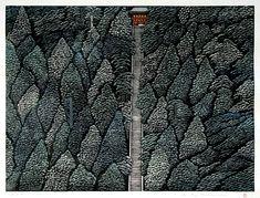 forma es vacío, vacío es forma: Ray Morimura - ilustración, xilografía