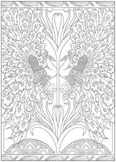 Peacock coloring page Peacock Coloring Pages, Cute Coloring Pages, Mandala Coloring Pages, Animal Coloring Pages, Coloring Books, Colorful Drawings, Colorful Pictures, Mandala Art, Free Adult Coloring