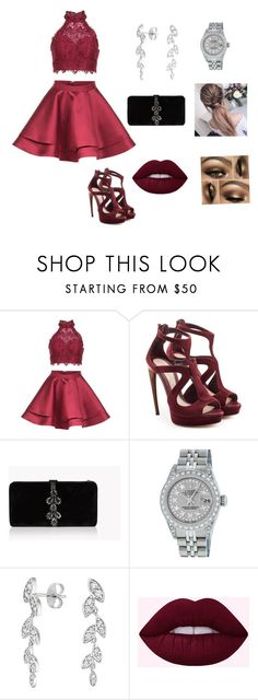 """Party!!!!!!!!!!!!!"" by ajddawoud ❤ liked on Polyvore featuring Alyce Paris, Alexander McQueen, Dsquared2 and Rolex"