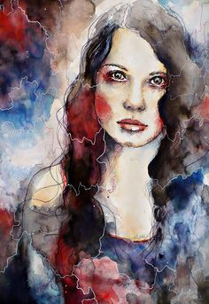 Timebomb, watercolor portrait speed painting by =jane-beata on deviantART Watercolor Eyes, Watercolor Portraits, Watercolor Paintings, Watercolours, Art And Illustration, Henri Matisse, Face Art, Sculpture, Amazing Art