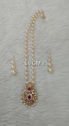 Pearl Necklace Designs, Jewelry Design Earrings, Gold Earrings Designs, Pearl Jewellery Designs, Indian Gold Jewellery, Gold Pearl Necklace, Silver Wedding Jewelry, Gold Jewelry Simple, Bridal Jewelry Pearls