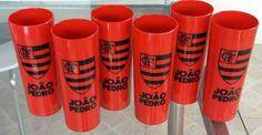 Copo Long drink  Tema:Flamengo  Cor dos copos: Vermelhos    Adesivo vinil transparente totalmente a prova d'água