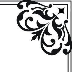Plantillas decorativas, estarcido, stencil... | Aprender manualidades es facilisimo.com Drawing Stencils, Stencil Diy, Stenciling, Pattern Paper, Pattern Art, Islamic Art Pattern, Wood Burning Patterns, Cnc, Clipart Design