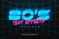 80s Text Effects by Zeppelin Graphics on @creativemarket