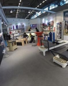 Unser Novacare/Sissel Stand auf der FIBO 2016 in Köln: Sissel Produkte & Pilates Reformer