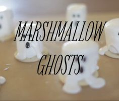 Tis the season for ghosts, goblins and everything else Halloween! And in this house, the kids want every last treat transformed into something spooky. We started with these chocolate cobwebs and next we tackled Marshmallow Ghosts. These are the easiest DIY project ever and can be used to top cupcakes, all white cakes (how cute would that be with 5-6 marshmallow ghosts), apple slices or...