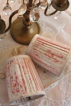 Small Lamp shades In French Antique Fabric