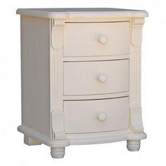 Nachttisch weiß, Landhausstil, Schlafzimmer Landhausmöbel, Kommode, Farmhouse, Country Cottage, Bedroom, Vintage Style