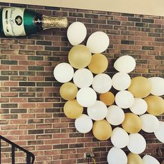 Stock the bar party decor! Use Gorilla indoor/outdoor sticky tape to stick balloons to the brick outside! : Stock the bar party decor! Use Gorilla indoor/outdoor sticky tape to stick balloons to the brick outside! Couples Shower Decorations, Engagement Party Decorations, Bachelorette Party Decorations, Outdoor Engagement Parties, House Warming Party Decorations, Winery Bachelorette Party, Cocktail Party Decor, Christmas Engagement, Couple Shower