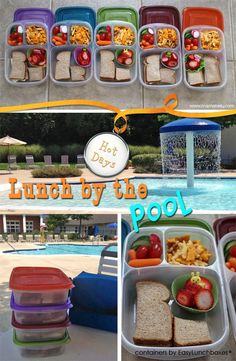 Mamabelly's Lunches with Love serves up lunches by the pool packed in EasyLunchboxes Pool Snacks, Summer Snacks, Summer Recipes, Detox Recipes, Summer Ideas, Beach Lunch, Beach Meals, Beach Picnic, Beach Foods