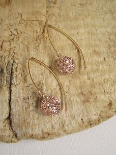 BACK IN STOCK! Rose Gold Druzy Earrings Titanium Drusy Quartz by julianneblumlo