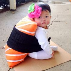 Got to love this cute sushi outfit...it's so well done!