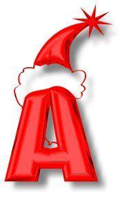 Oh my Alfabetos!: Alfabeto rojo de gorritos de Santa.