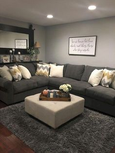 10 Admirable Hacks: Living Room Remodel Before And After Foyers living room remodel with fireplace fire places.Living Room Remodel On A Budget Bedrooms living room remodel with fireplace fire places.Small Living Room Remodel With Fireplace. Living Room Ideas 2019, Living Room Grey, Small Living Rooms, Home And Living, Simple Living, Modern Living, Living Room Decor Ideas Grey, Living Room With Sectional, Loving Room Decor