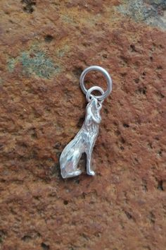 8mm long x 13mm wide Sterling Silver Dog Charm