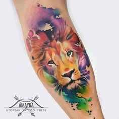 41 trendy Ideas tattoo lion sleeve water colors 41 trendy Ideas tattoo lion sleeve water colors This image has. Leo Tattoos, Body Art Tattoos, Girl Tattoos, Tattoos For Guys, Tatoos, Trendy Tattoos, Unique Tattoos, Beautiful Tattoos, Beautiful Beautiful
