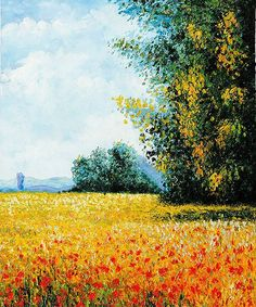Champ d'avoine (Oat Field) Landscape Oil Painting Reproductions on Canvas