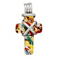 Handmade Multicolor Murano Glass Cross Pendant by jewelrymandave, $79.95  http://www.etsy.com/listing/30278130/handmade-multicolor-murano-glass-cross