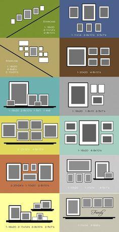 Photo arrangement ideas. So smart!!!!!