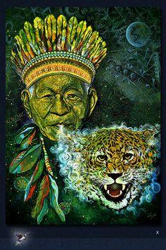 visionary art chaman shaman animal totem