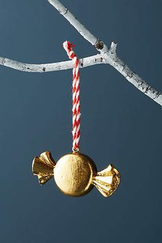 Anthropologie Peppermint Ornament