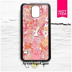 Pink Pokemon Pattern Samsung Galaxy S5 Case