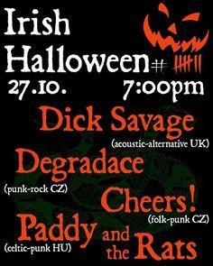 In one week! . @divadlo_pod_lampou  Plzeň... . with @cheerscz . @paddyrats . . . . #irishhalloween #irish #punk #halloween #divadlopodlampou #cheers! #degradace #paddyandtherats #plzen #pilsen #gig #concert #koncert #livemusic