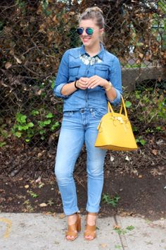 The Northwest Blonde shares a Fashion Week ready way to style your best denim in this week's installment of Start the Week Stylish