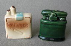 Vintage Salt Pepper Shakers Pack of Cigarettes Lighter Go With |
