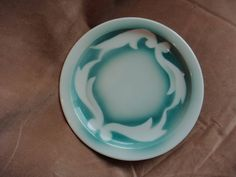Jackson China Bread and Butter Plate Green airbrush swirl on white Restaurant China Made in Falls Creek PA USA by GrandmothersTable on Etsy White Restaurant, Bread N Butter, Plates, Dishes, Dining, Unique Jewelry, Handmade Gifts, Tableware, How To Make